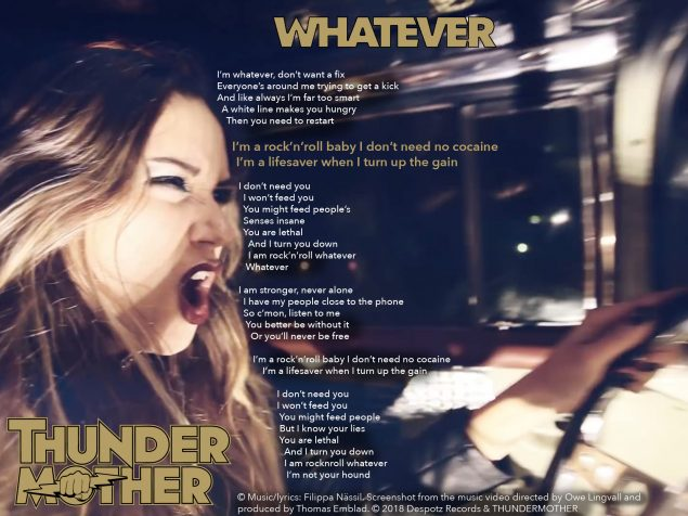 Whatever lyrics - Thundermother Oli Nepomiachty